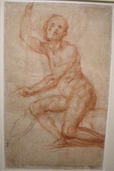 Study of a seated man, 1518 - Jacopo Pontormo