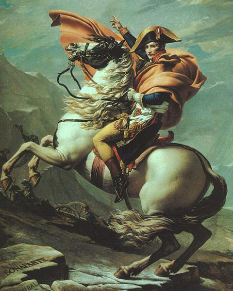 Napoleon Crossing the Alps at the St Bernard Pass, 20th May 1800, c.1800 - 1801 - Jacques-Louis David