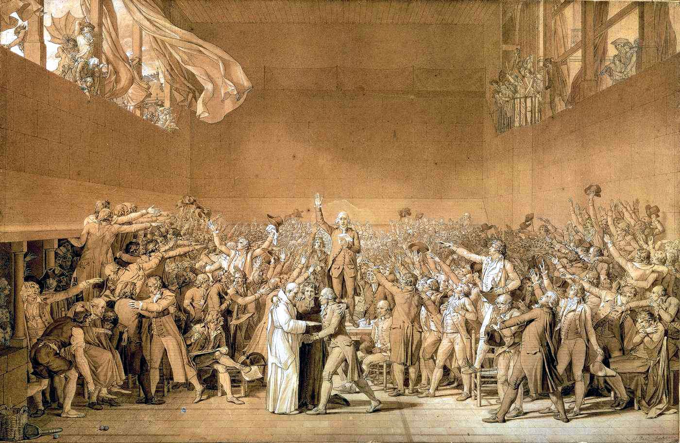 Путин и фельяны The-tennis-court-oath-20th-june-1789-1791