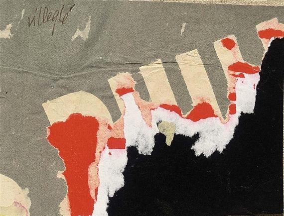 """Affiche Laceré """"Phillipe Biennale"""", 1961 - Жак Вільгле"""