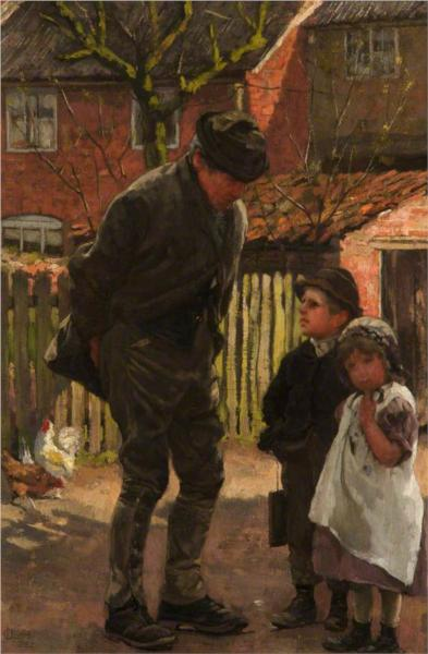 Grandad, She Does Not Want to Go to School, 1883 - James Charles