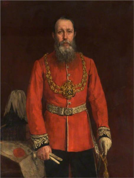 Joshua Walmsley Radcliffe, Mayor of Oldham, 1887 - James Charles