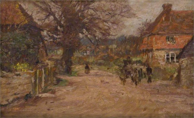 Summer, the Village Road, 1900 - James Charles