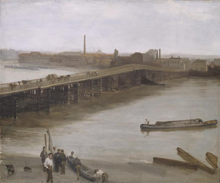 Brown and Silver: Old Battersea Bridge, 1859 - James McNeill Whistler