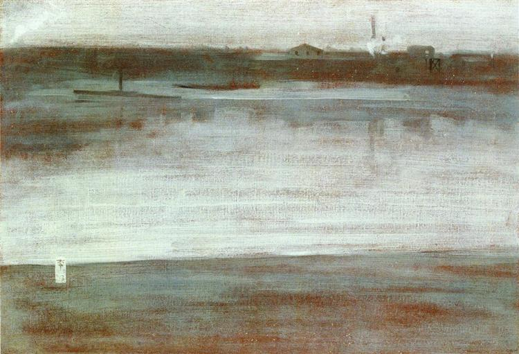 Symphony in Grey: Early Morning, Thames, c.1871 - James McNeill Whistler