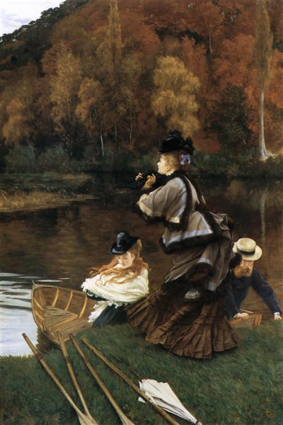 Autumn on the Thames, c.1871 - c.1872 - James Tissot