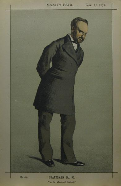 Caricature of Sir Charles Wentworth Dilke, 2nd Baronet PC - James Tissot