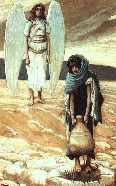 Hagar and the Angel in the Desert, 1896 - 1900 - James Tissot