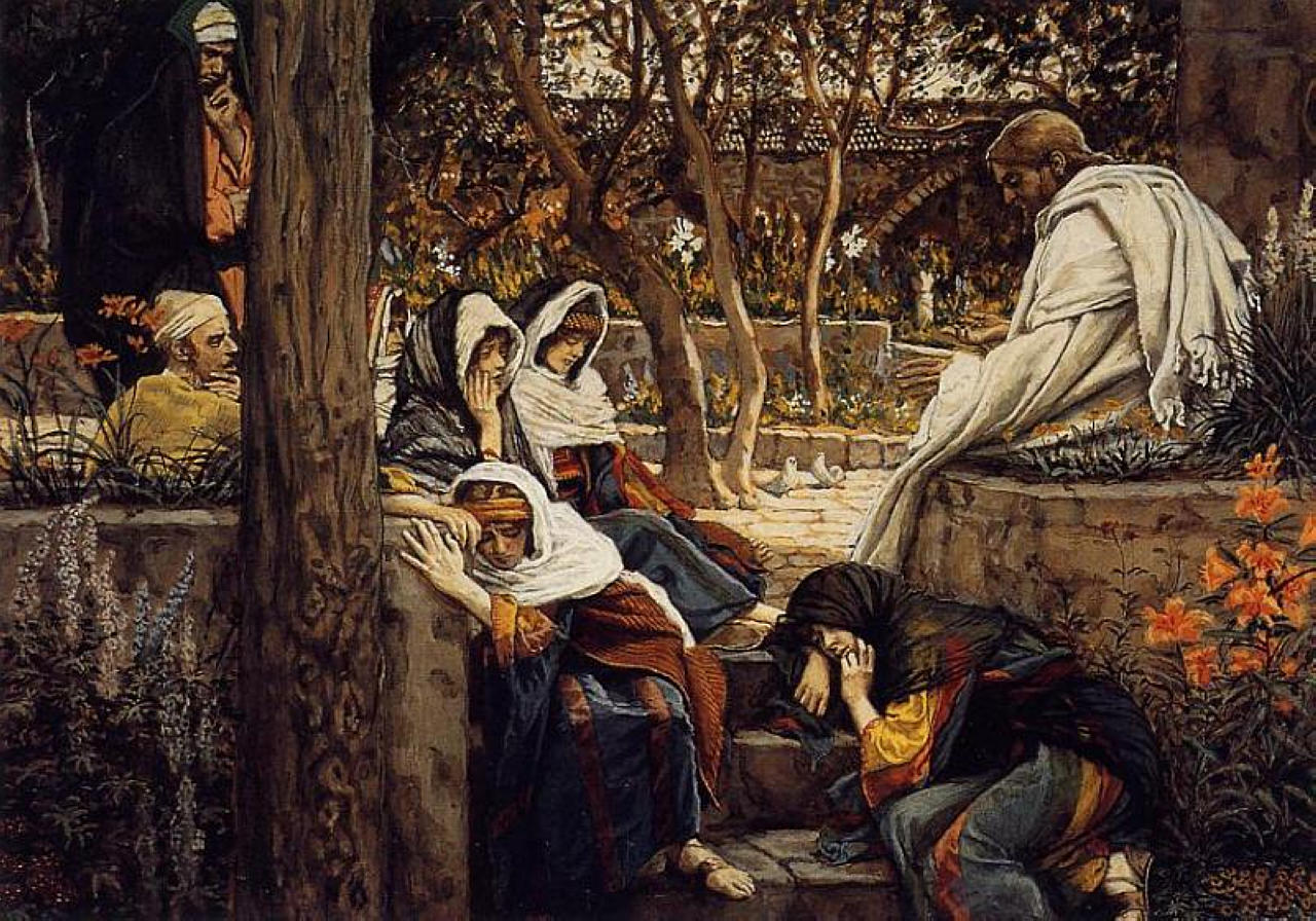 Jesus At Bethany 1886 1894 James Tissot Wikiart Org