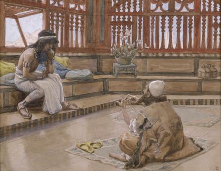 Joseph Converses With Judah, His Brother, c.1896 - c.1902 - James Tissot