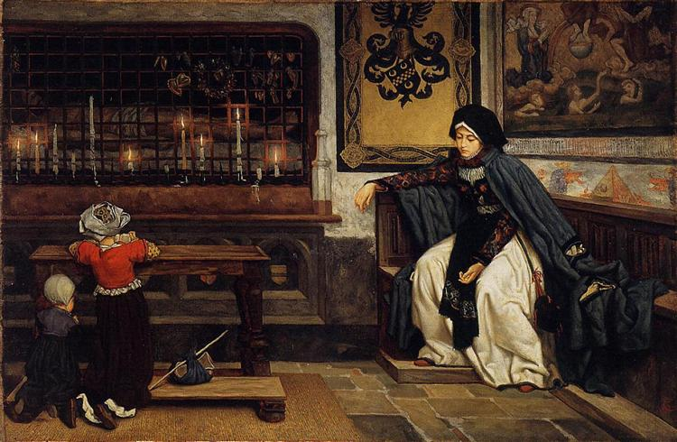 Marguerite in Church, 1860 - James Tissot
