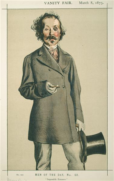 Men of the Day No.580 Caricature of Mr.Thomas Mayne Reid - James Tissot