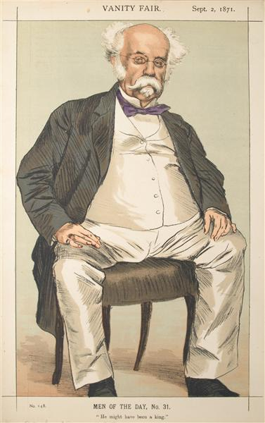 Men or Women of the Day No.310 Caricature of The Duke of Saldanha - James Tissot