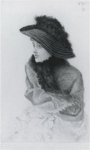 Portrait of M.N. (Portrait of Mrs. Newton), 1876 - James Tissot