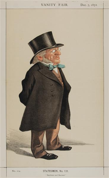 Statesmen No.1310 Caricature of Sir Francis Goldsmid M.P. - James Tissot
