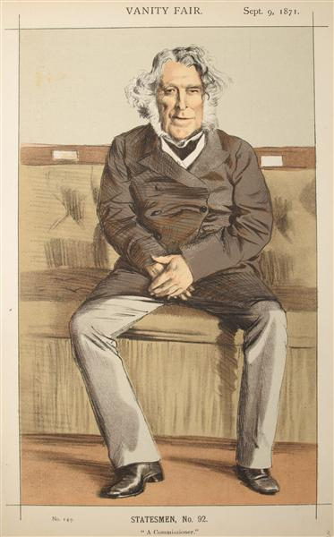 Statesmen No.920 Caricature of the Rt Hon Russell Gurney - James Tissot