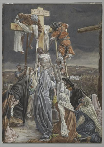 The Descent from the Cross, illustration for 'The Life of Christ', c.1884 - c.1896 - James Tissot