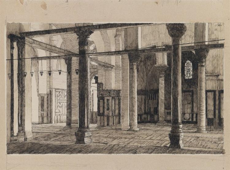 Transept of the Mosque of El Aksa, 1886 - 1889 - James Tissot