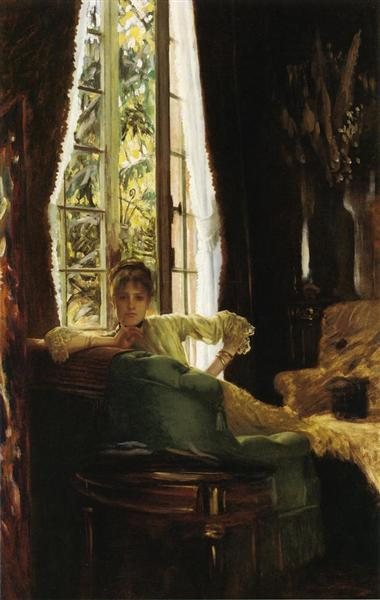 Woman in an Interior, c.1883 - c.1885 - James Tissot