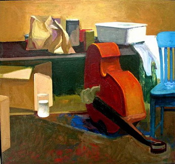 The Artist Studio, Paper Bags and Bass Violin,, 1962 - James Weeks