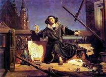 Copernicus in the tower at Frombork - Jan Matejko