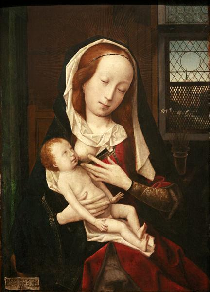 Virgin Giving Breast - Jan Provoost