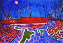 Landscape by Moonlight II - Jan Sluyters