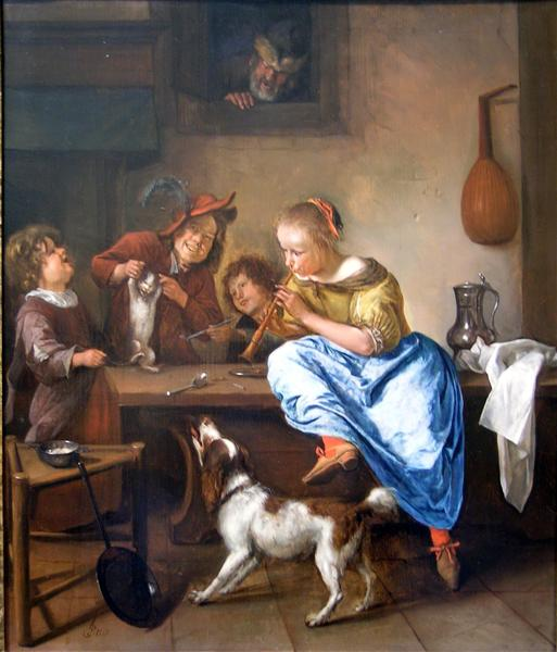 Dancing lesson - Jan Steen