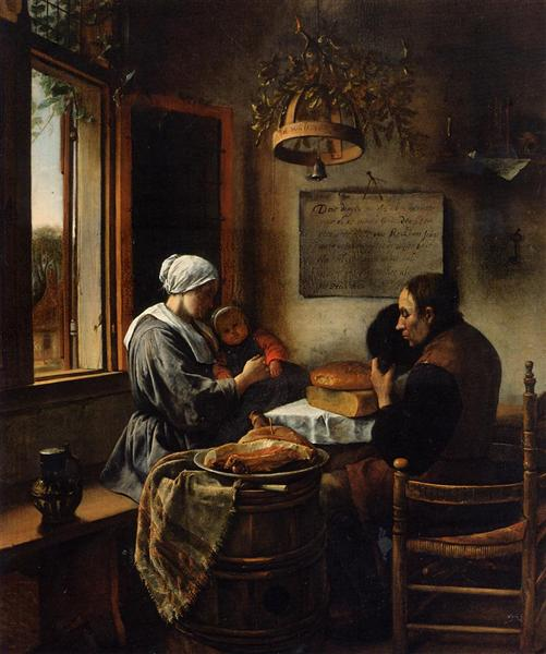 Prayer before Meal, 1660 - Jan Steen