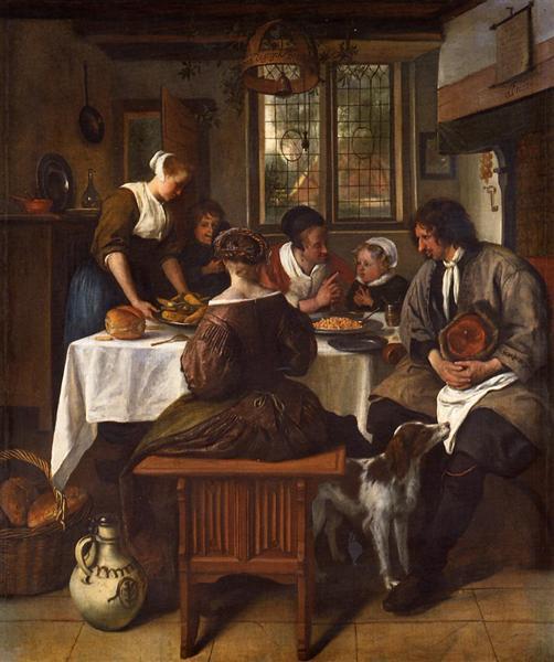Prayer before Meal, c.1663 - 1665 - Jan Steen