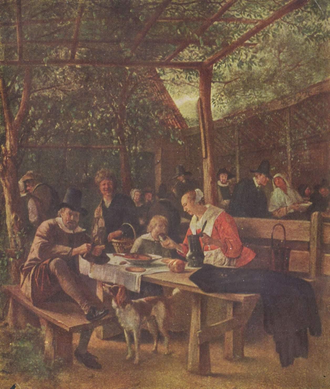 Pub Garden C 1661 1663 Jan Steen Wikiart Org