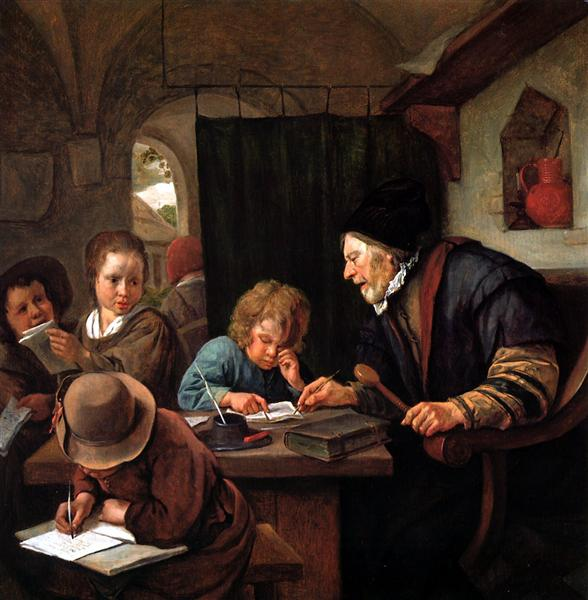 School teacher, c.1668 - Jan Steen