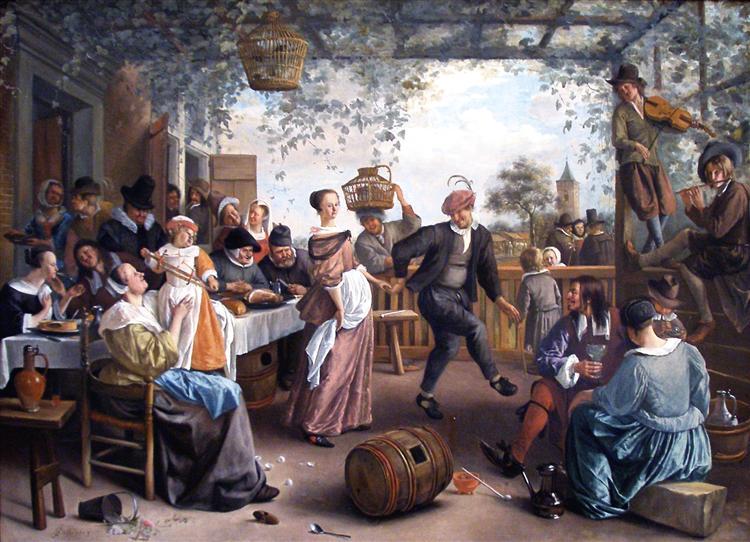 The Dancing Couple, 1663 - Jan Steen
