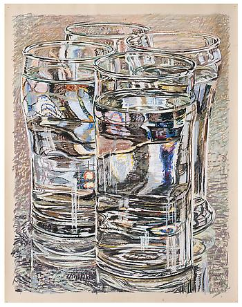 4 Glasses, 1974 - Janet Fish
