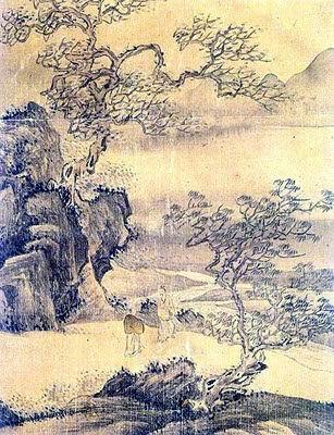 La imagen de un hombre en el paisaje - Owon