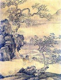The picture of a man in the landscape - Owon