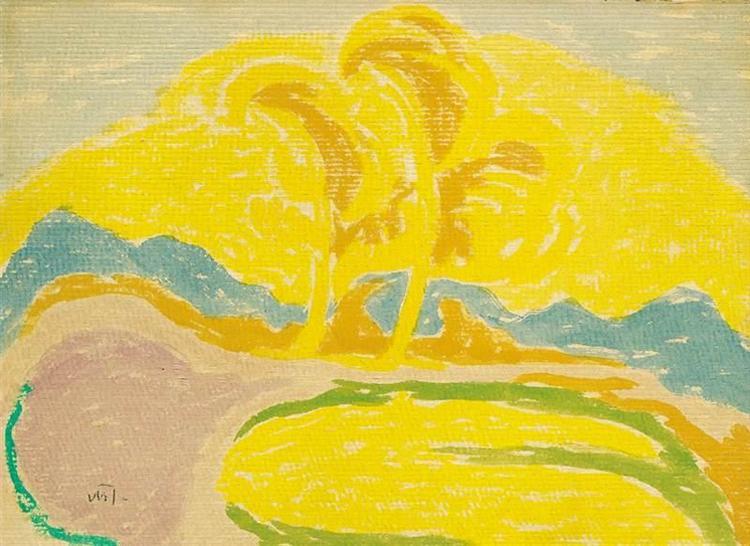 Yellow Landscape, 1916 - Janos Mattis-Teutsch