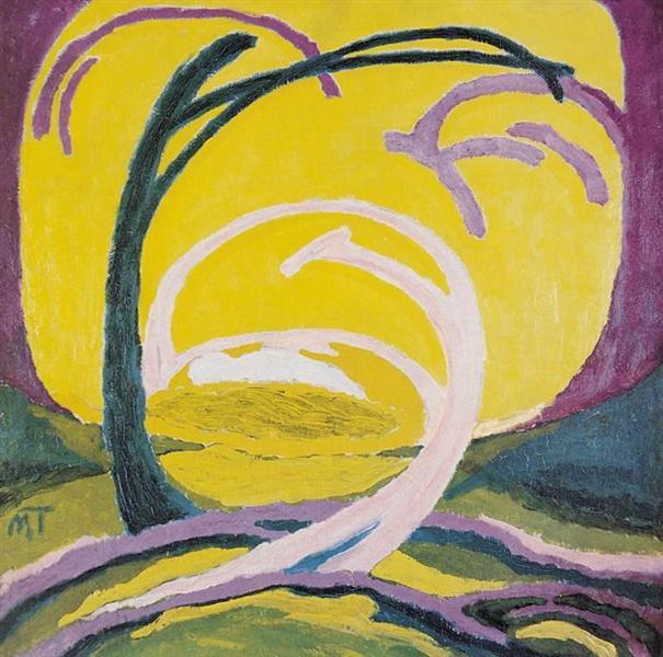 Yellow Landscape, 1918 - Janos Mattis-Teutsch