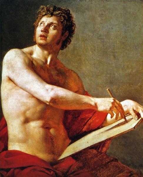 Academic Study of a Male Torse, 1801 - Jean Auguste Dominique Ingres