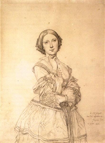 Mademoiselle Cecile Panckoucke - Jean Auguste Dominique Ingres