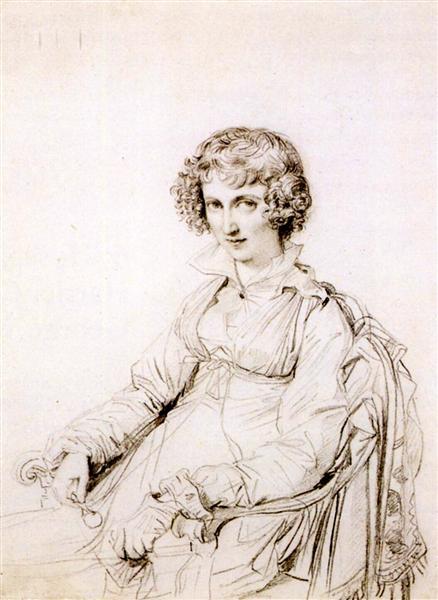 Mrs Charles Thomas Thruston, born Frances Edwards - Jean Auguste Dominique Ingres