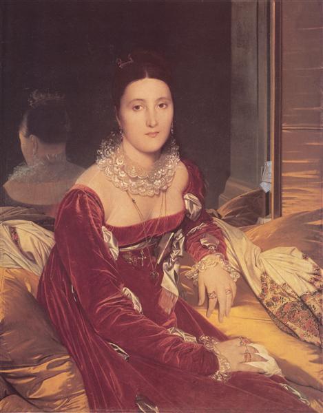 Portrait of Madame de Senonnes, c.1814 - c.1816 - Jean Auguste Dominique Ingres