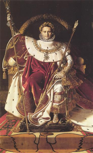 Portrait of Napoléon on the Imperial Throne, 1806 - Жан-Огюст-Домінік Енгр