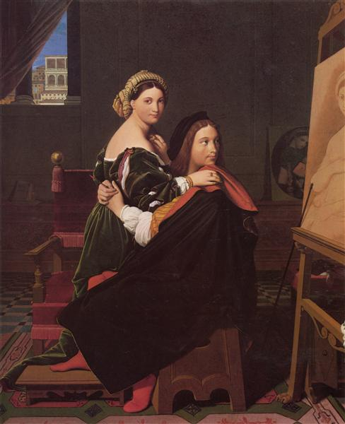 Raphael and the Fornarina, 1814 - Jean Auguste Dominique Ingres