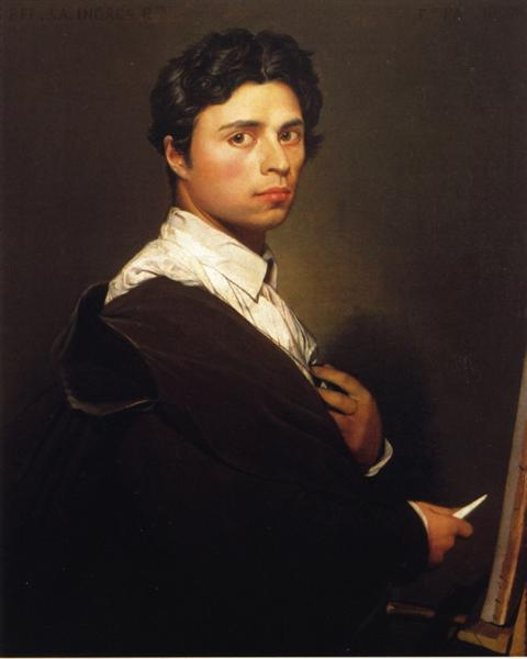 Self-Portrait at the Age of 24, 1804 - Jean Auguste Dominique Ingres
