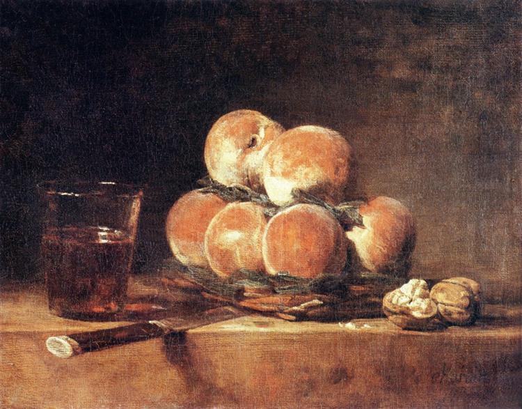Basket of Peaches, 1768 - Jean-Baptiste-Simeon Chardin