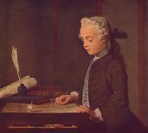 Boy with a Top - Jean-Baptiste-Simeon Chardin
