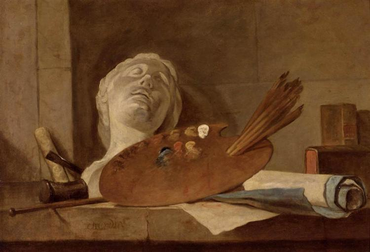 The Attributes of Painting and Sculpture, c.1728 - Jean-Baptiste-Simeon Chardin