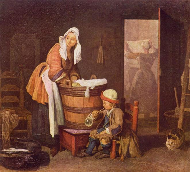 The laundress, c.1735 - Jean-Baptiste-Simeon Chardin