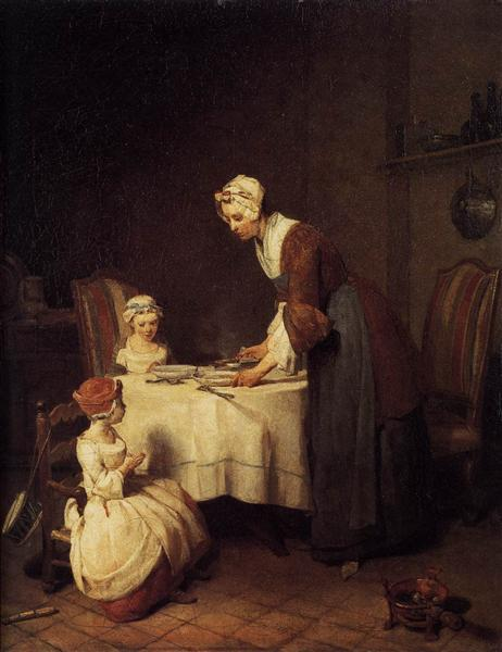 The Prayer before Meal, c.1740 - Jean-Baptiste-Simeon Chardin